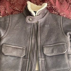 Ralph Lauren shearling leather